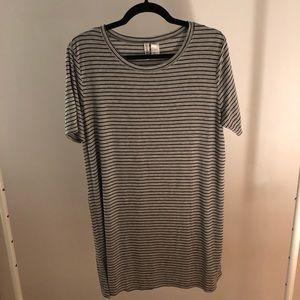 H&M Grey striped T-shirt Dress